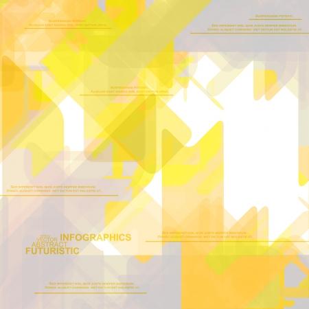 high tech background: High Tech design for infographics, website template, vector illustration