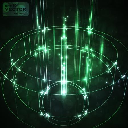 hitech: Futuristic abstract vector illustration, neon technology background