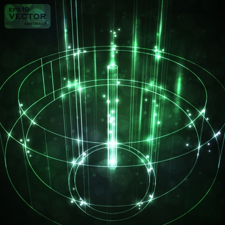 Futuristic abstract vector illustration, neon technology background