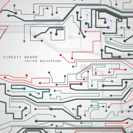 Circuit board vector background, technology illustration  Çizim