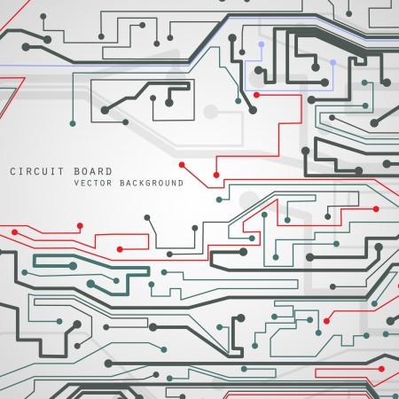 Circuit board vector background, technology illustration  Ilustração