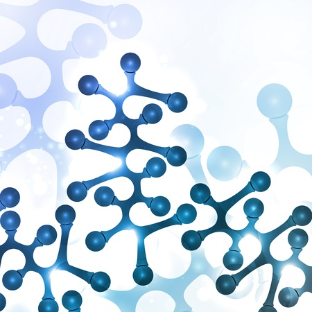 Futuristic dna, abstract molecule, cell illustration Stock Illustration - 20913742