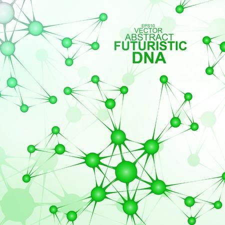 Futuristic dna, abstract molecule, cell illustration Stock Vector - 21079662