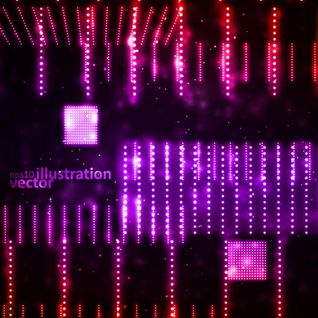 Abstract vector background, creative technology, light neon Illustrations Illustration