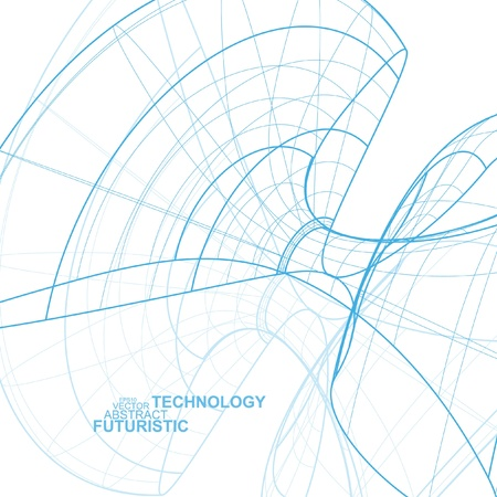 Abstract technology, vector technical drawing, shiny space background