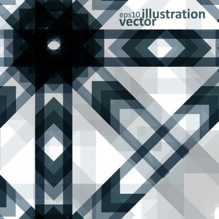 modish: Colorful abstract vector background, futuristic geometric shapes illustration  Illustration