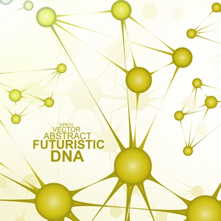 Futuristic dna, abstract molecule, cell illustration  Stock Vector - 21534616