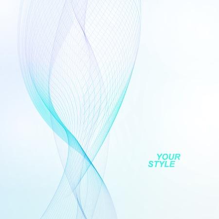 Abstract vector background, futuristic blue wavy illustration Stok Fotoğraf - 21534620