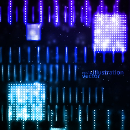 Abstract vector background, creative technology, light neon Illustrations  Vector