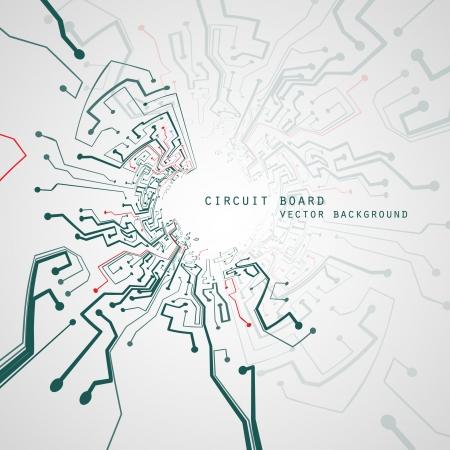 Circuit board vector background, technology illustration Illustration