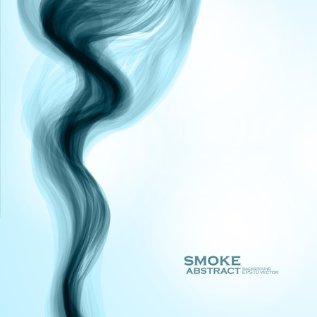 Blue smoke background  Abstract  vector illustration Stock Vector - 21534881