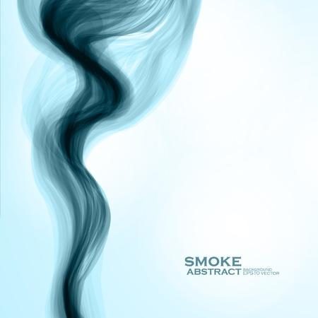 fumo blu: Fumo blu sfondo astratto illustrazione vettoriale