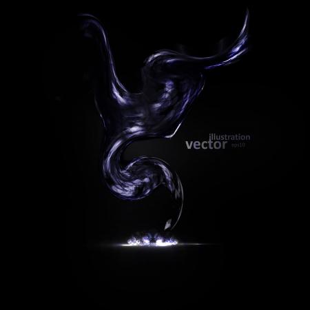 Creative dynamic element,  light lines Illustrations. Stock Vector - 21911525