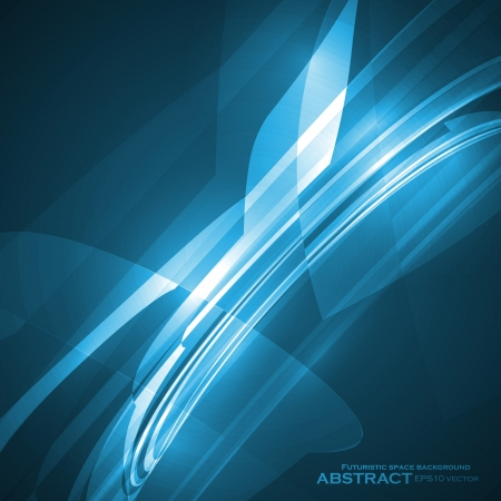 Abstract blue vector illustration, technology background Vector