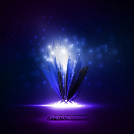 Abstract magic crystal, vector futuristic illustration Stock Vector - 21911545
