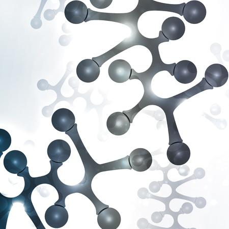 Futuristic dna, abstract molecule, cell illustration  Stock Illustration - 22017612