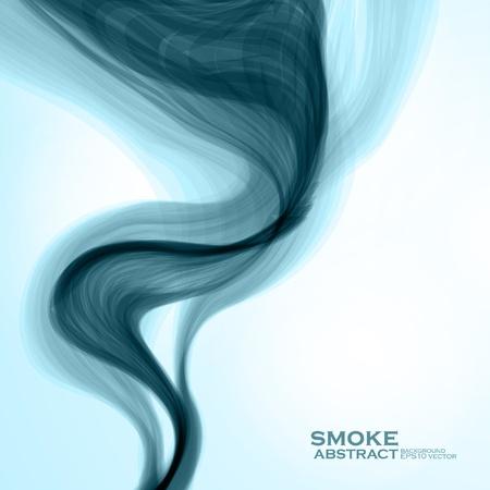 fumo blu: Sfondo blu fumo. Abstract illustrazione vettoriale eps10