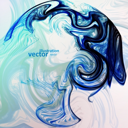 smell of burning: Abstract mystic vector background, futuristic wave illustration