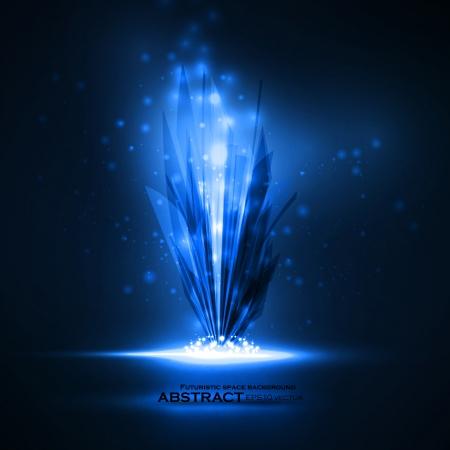 Abstract magic crystal, vector futuristic illustration