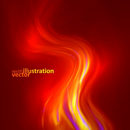 smell of burning: Abstract magical flame illustration. Colorful vector background  Illustration