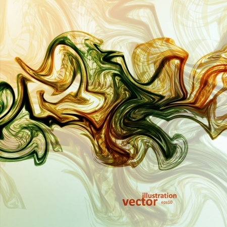 mystic: Abstract mystic vector background, futuristic wave illustration