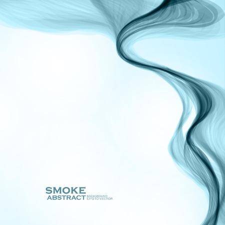 fumo blu: Sfondo blu di fumo. Abstract illustrazione vettoriale eps10