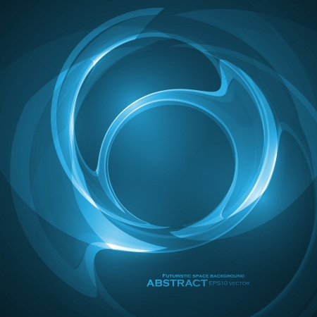 Abstract blue vector illustration, technology background eps10 Stock Vector - 22494702