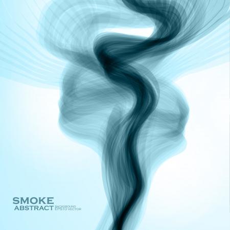 fumo blu: Sfondo blu di fumo. Abstract illustrazione vettoriale Vettoriali