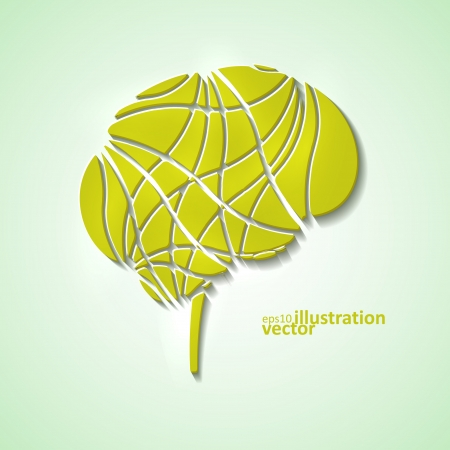 Creative brain, modern vector illustration