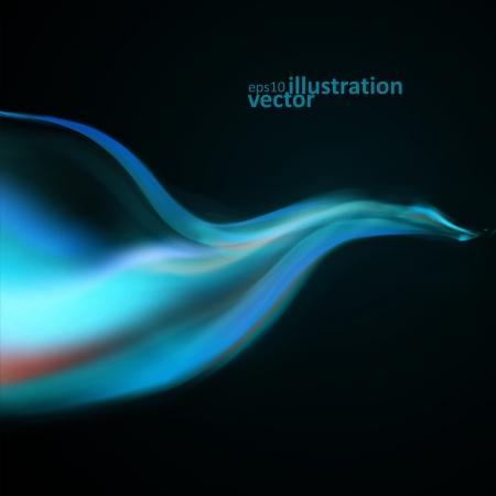 fumo blu: Sfondo blu di fumo. Abstract illustrazione Vettoriali