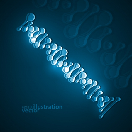 Abstract DNA, futuristic molecule, cell illustration Vector