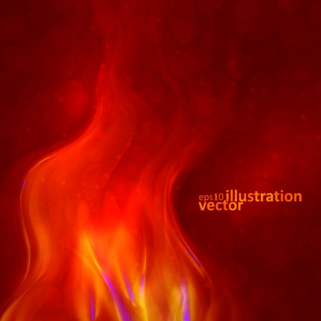 smell of burning: Abstract magical flame illustration. Colorful  background Illustration