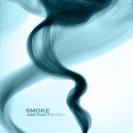 Blue smoke background. Abstract  vector illustration eps10