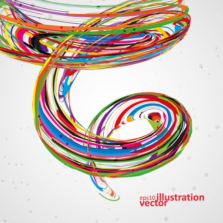 abstract waves: Abstract wave vector background, futuristic technology illustration