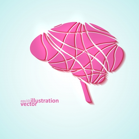 Creative brain, modern vector illustration  Vector