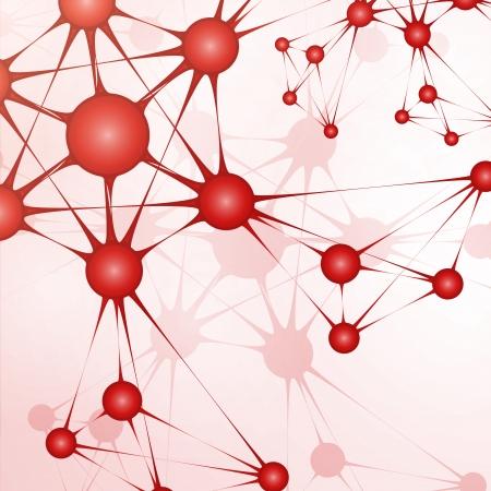 Futuristic dna, abstract molecule, cell illustration Stock Illustration - 23447041