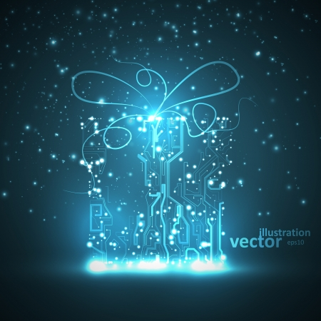 Circuit board vector background, technology illustration Stok Fotoğraf - 23447171