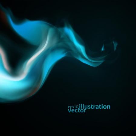 fumo blu: Sfondo blu fumo. Abstract illustrazione vettoriale Vettoriali