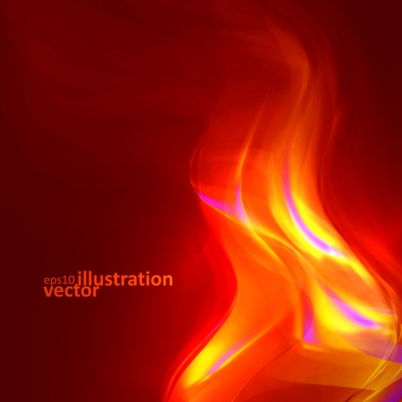 smell of burning: Abstract magical flame illustration.