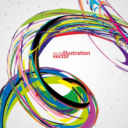 Abstract wave vector background, futuristic technology illustration eps10 Vector