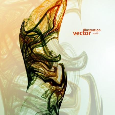 smell of burning: Abstract mystic vector background, futuristic wave