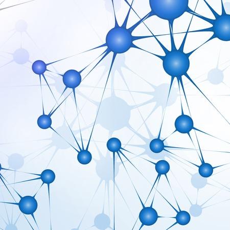 Futuristic dna, abstract molecule, cell illustration Stock Illustration - 23983154