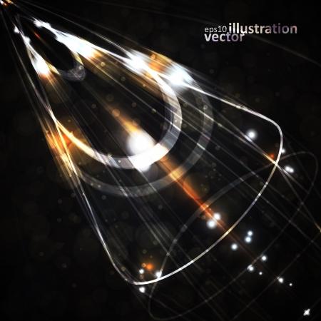 Futurista ilustración vectorial abstracto, fondo de tecnología eps10