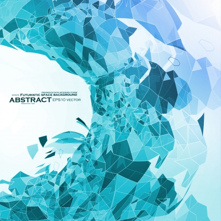 Abstract geometric illustration, blue vector background eps10