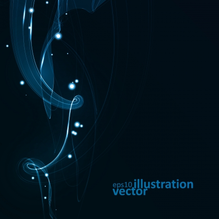 Abstract vector eps10. Creative dynamic element,  light lines Illustrations. Vector