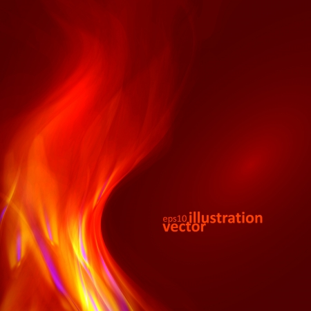 smell of burning: Abstract magical flame illustration. Colorful vector background eps10