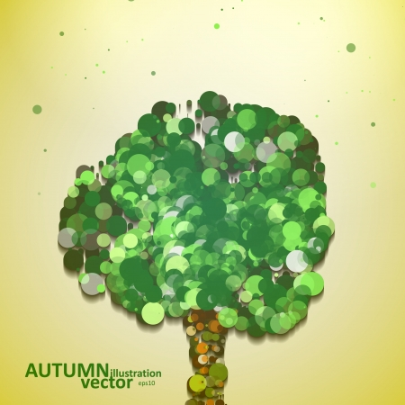 Abstract autumn tree illustration, vector background eps10 Vector
