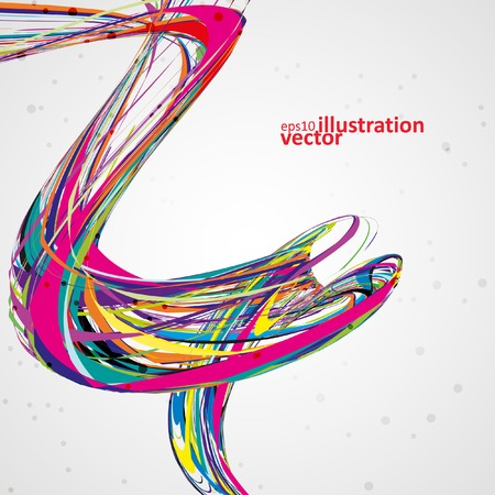 Abstract wave vector background, futuristic technology illustration