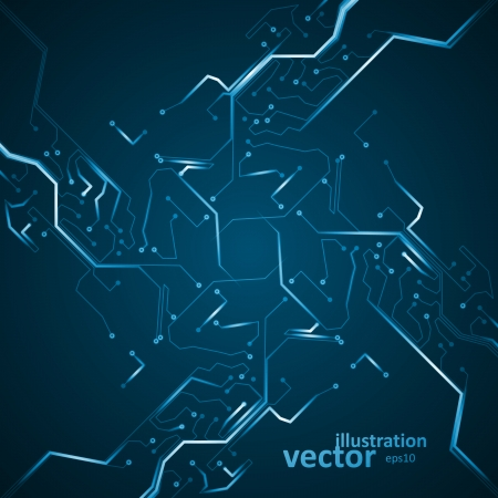 Circuit board vector background, abstract technology illustration eps10