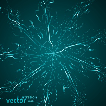 eps10 vector background: Circuit board vector background, abstract technology illustration eps10